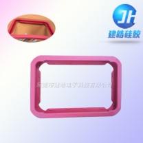 厂家开模定制平板硅胶壳/多尺寸硅胶套/防摔边框硅胶制品
