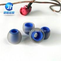 东莞硅胶制品厂定制生产加工双色耳机硅胶耳帽